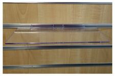 24 Slatwall Shelves Shelf Shoe 4 X 10 Display Flat Styrene Clear Acrylic Slat