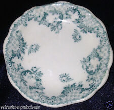 """JOHNSON BROTHERS ENGLAND CLOVERLY BLUE GREEN FLORAL BUTTER PAT 3"""" SCALLOPED"""