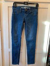 Mossimo Womans Sz 3 Dark Wash Skinny Slim Jegging Denim Jeans No Zip Pants Flaw