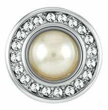 White Gp31-01 Interchangeable Jewelry Snap Petite Ginger Snaps Simulated Pearl