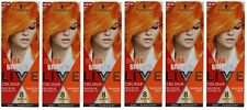 6 x SCHWARZKOPF LIVE ULTRA BRIGHT'S COLOUR MAXIMUM INTENSITY TANGERINE TWIST NEW