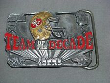 San Francisco 49 er Limited Edition Belt Buckle Team Of the Decade Numbered 2662