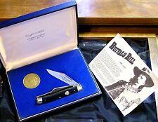Schrade Walden Knife & Coin Set W/Original Buffalo Bill Commemorative Packaging