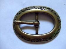 Antique Brass Center Bar Belt Buckle USA