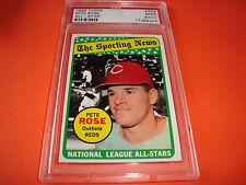 1969 Topps #424 PETE ROSE  psa 9 oc Cincinnati Reds (344)