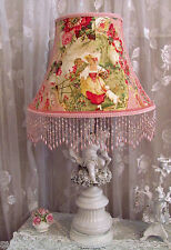 "12"" Floor LampSHADE French FRAGONARD Toile chic pink Richloom fabric Cameo Shade"