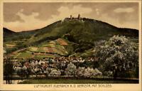 Auerbach an der Bergstraße  AK ~1910/20 Gesamtansicht mit Schloß auf dem Hügel