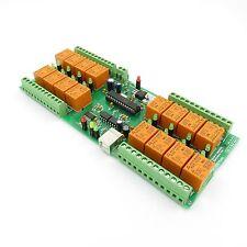 USB 16 Canali (10A)Relè, Intelligente di domotica, 12VDC - Vitrual COM port(VCP)