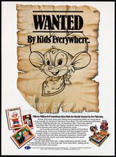 AN AMERICAN TAIL Trading Cards__Orig. 1990 Trade print AD promo_FIEVEL GOES WEST