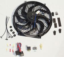 "14"" ELECTRIC HEAVY DUTY RADIATOR REVERSIBLE FAN 2200 CFM & THERMOSTAT KIT"