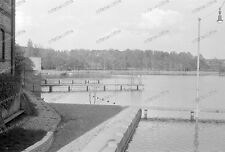 Negativ-Darmstadt-Hessen-Großer-Woog-Natur-Freibad-Architektur-1930er Jahre-1