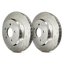 For Ford Crown Victoria 03-11 Brake Rotors Diamond Slot Dimpled & Slotted Vented
