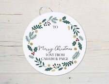 24 personalised Christmas Label Stickers, Christmas Gift Labels, Gift tag