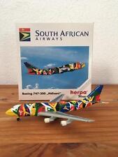 NEW HERPA WINGS 503938 SOUTH AFRICAN AIRWAYS BOEING 747-300 NDIZANI 1:500 MIB