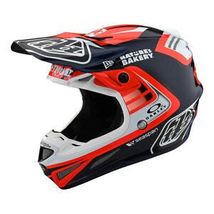 New Troy Lee Designs SE4 Full Carbon Flash Red Team Helmet Adult Medium Mx TLD