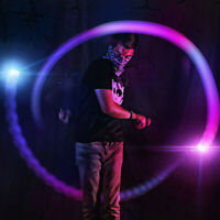 LED Glow Stick Strobing Poi Lights In 5 Different Mode Light Up Concert Party