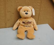 "Hard Rock Cafe Isaac Beara Plush Bear 8"" Philadelphia W/ Tag Beige Love All"