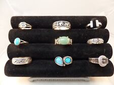 925 STERLING SILVER MISCELLANEOUS RINGS LOT OF 9  VARIOUS SIZE  # S 1468