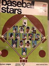 1969 Baseball Stars Photo Stamp Album COMPLETE American League Centennial