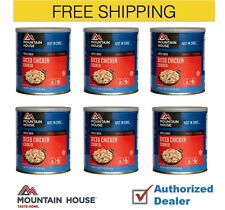 New Mountain House Freeze Dried Cooked Diced Chicken Emergency Food Case, 6 Cans