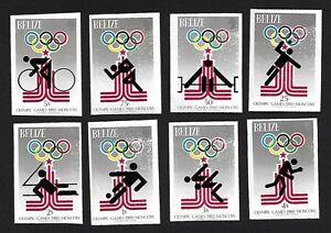 Belize 1980 Olympics 8v imperf MNH