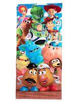 Disney Toy Story Beach Bath Towel 58x28 Woody Buzz Lightyear Forky Rex