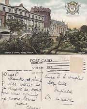 1907 CASTLE & CHAPEL ROYAL DUBLIN NORTHERN IRELAND COLOUR POSTCARD