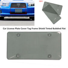 2PCS Auto Smoked  License Plate Cover Cool Car Tag Frame Shield Tinted Flat Part