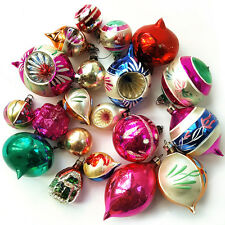 20 LOVELY VINTAGE MERCURY GLASS CHRISTMAS TREE BAUBLES DECORATIONS 1950S/60S