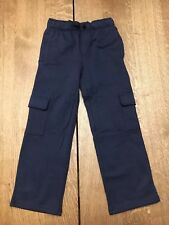 NWT Gymboree Boys Navy Blue Cargo Uniform Pants Sweatpants Size 7