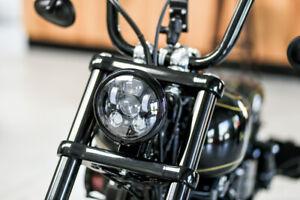 """LED SCHEINWERFER 5,75"""" mit Standlicht Harley Night Train Sportster DYNA Softail"""