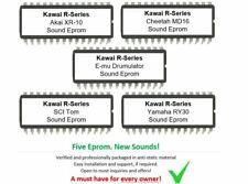 Kawai R100 R50 R50e sound eproms Akai E-mu SCI Cheetah Yamaha
