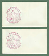 2 X 1958 UNUSED ENVELOPES WITH US NAVY SEA LIFT FOR SECURITY RUBBER STAMPS