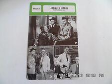 CARTE FICHE CINEMA JACQUES MARIN période 1950 - 1960