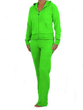 Womens Velour Tracksuit Brand New Full Suit Green Size 8-10
