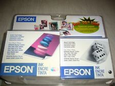 EPSON INK CARTRIDGES LOT OF 7 - S020089 (2) & S020108 (5)