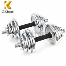 Adjustable Dumbbells Set 22 Lbs Circular Cast Gym Strength Weight Training 10kg