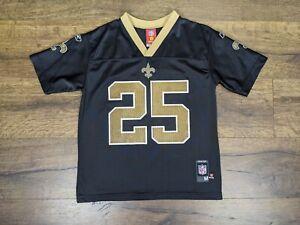 Reebok New Orleans Saints Reggie Bush Jersey Size Youth Medium