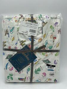 New Pottery Barn Teen Harry Potter Candy Sateen Pajama Set Large