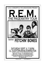 R.E.M. 1986 Indiana University Concert Poster
