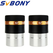 """1.25"""" 31.7mm Astronomical Telescope 62° WIDE Eyepiece Lens 4mm Fully Coated 2pcs"""