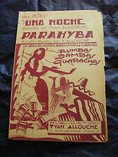 Partition Una Noche Allouche Parahyba  Music Sheet