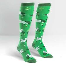 NWT SOCK IT TO ME FRESH OFF THE GOAT KNEE HIGH SOCKS DERBY STYLISH CUTE GRASS