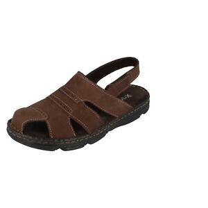 Herren Moza-X Brown Nubuk Leather Sandalen B208394
