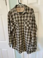 Redhead Men's Checkered Plaid Flannel Long Sleeve Shirt Size XLT Cotton