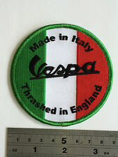 Vespa 'Made in Italy' Patch - Embroidered - Iron or Sew On