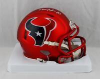 DeAndre Hopkins Autographed Houston Texans Blaze Mini Helmet- JSA W Auth *White