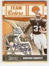 2010 CLASSICS TEAM COLORS ROOKIE SERIAL #/25 AUTOGRAPH MONTARIO HARDESTY BROWNS