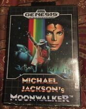 Michael Jackson's Moonwalker -- Sega Genesis -- RARE -- Case and Game.