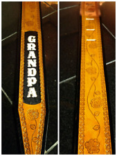 """Personalized Custom 3"""" Leather Guitar Strap"""